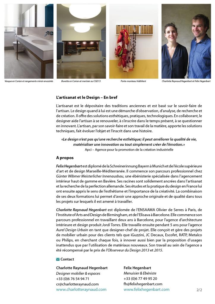 150727 - Communiqué de presse HEGENBART - Designer&Menuisier2