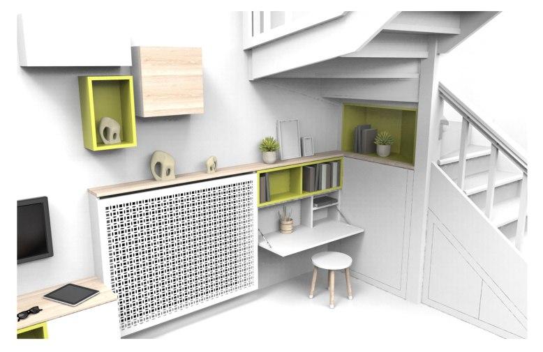 Agencement-sous-escalier-et-mur-adjaçent-Charlotte-Raynaud-Design-studio3