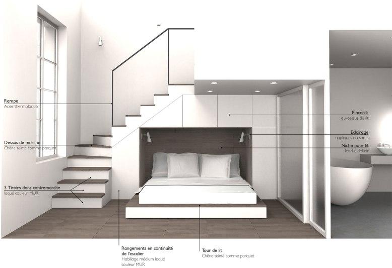 Aménagement--interieur-niche-pour-le-lit-et-placards-autour-du-lit-gain-de-place