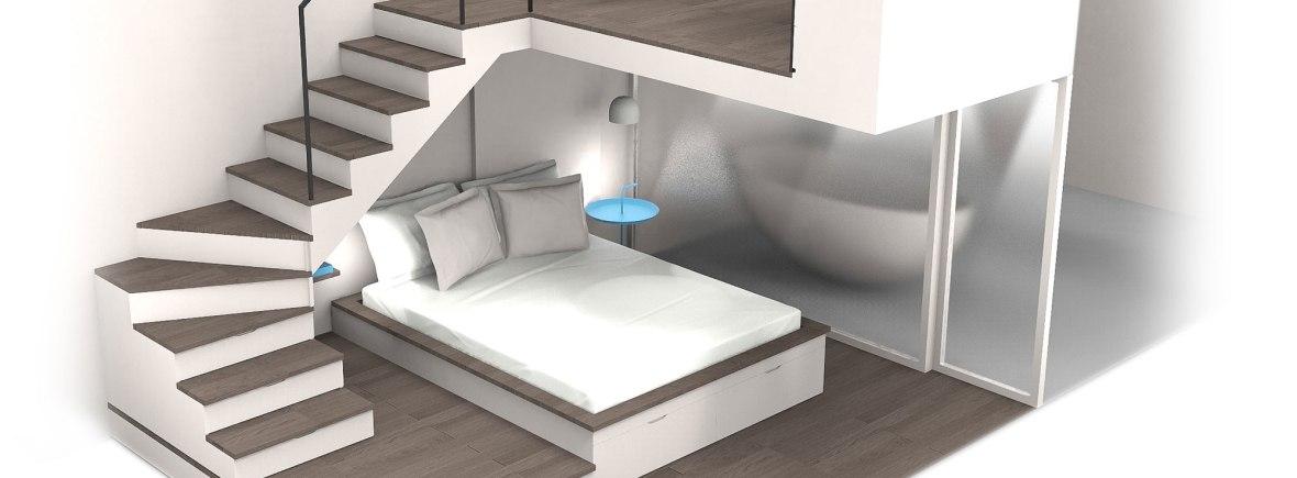 Am nagement d une chambre sous une mezzanine en cours charlotte raynaud - Optimiser espace petite chambre ...